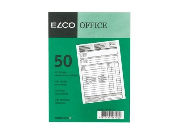Bestellschein Elco A5 50/50 Blatt weisses Papier 65g/qm