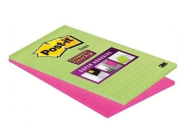 Haftnotizen Post-it 125x200mm Super Sticky liniert