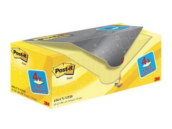 Haftnotitz Post-it 76x76cm gelb Packung