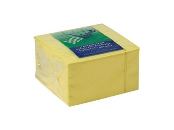 Haftnotizen Büroline 75x75mm Block à 450Blatt gelb