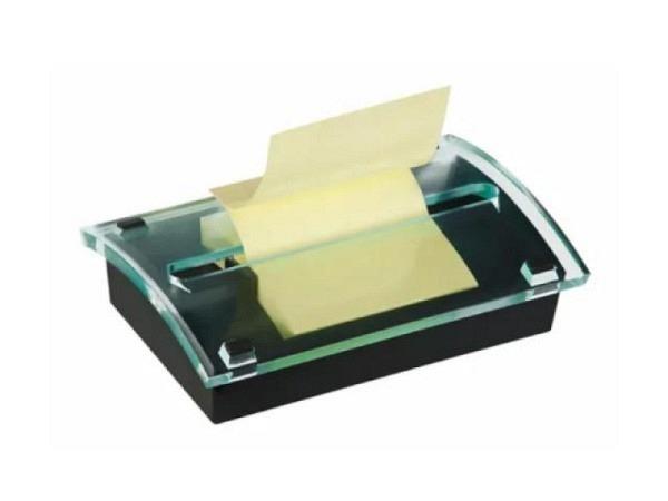 Dispenser Post-it Z-Notes schwarz/transparent für 76x76mm