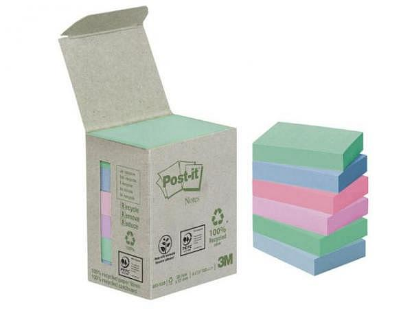 Haftnotizen Post-it Recycling Pastell 38x51mm 6 Blöcke