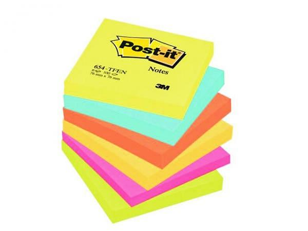 Haftnotizen Post-it Energy 76x76mm 6 Block à 100Blatt