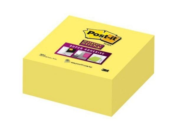 Haftnotizen Post-it Würfel Super Sticky 76x76mm gelb