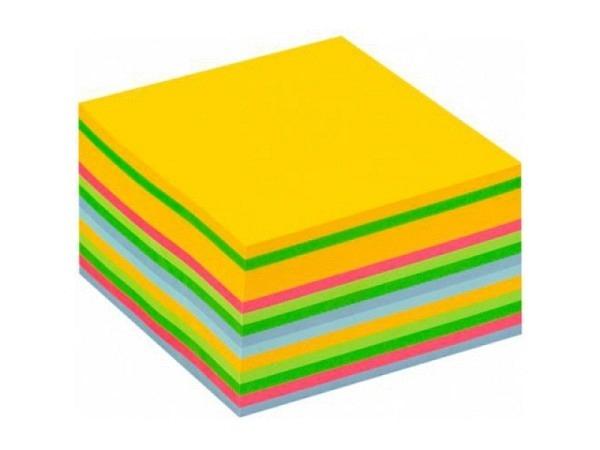 Haftnotizen Post-It Würfel 76x76mm ultrafarben, 450 Blatt