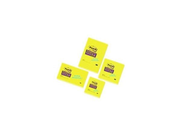 Haftnotizen Post-it 76x127mm Super Sticky gelb unliniert