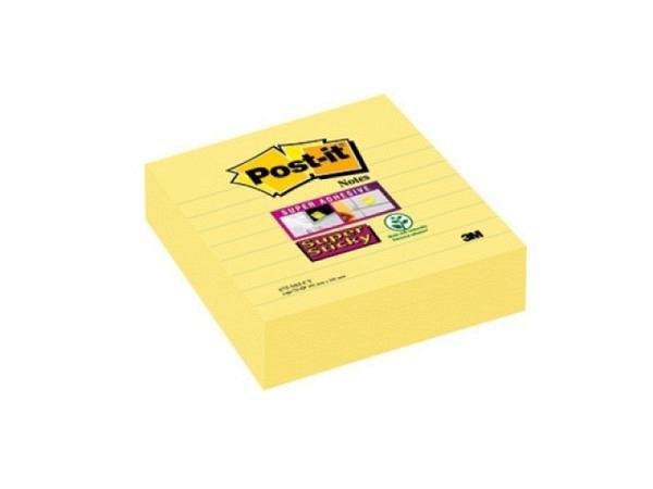 Haftnotizen Post-it 101x101mm Super Sticky gelb liniert