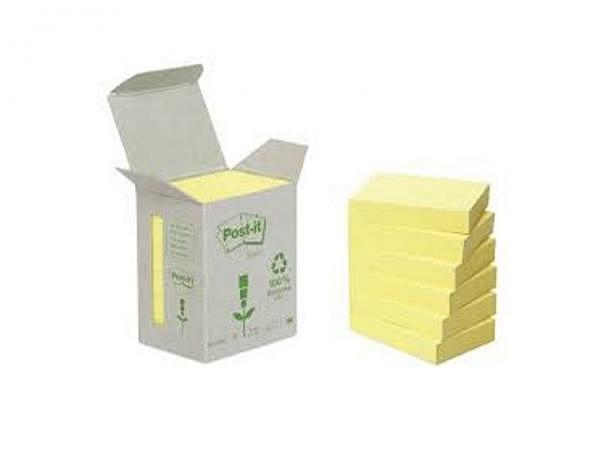 Haftnotizen Post-it Recycling gelb 38x51mm