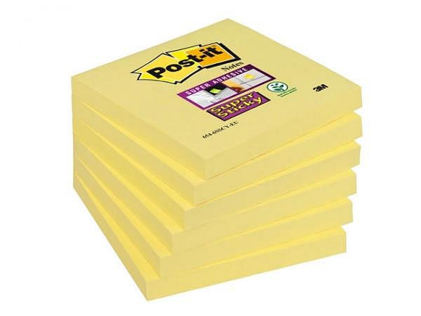 Haftnotizen Post-it Super Sticky 76x76mm gelb 6 Block à 90 Blatt