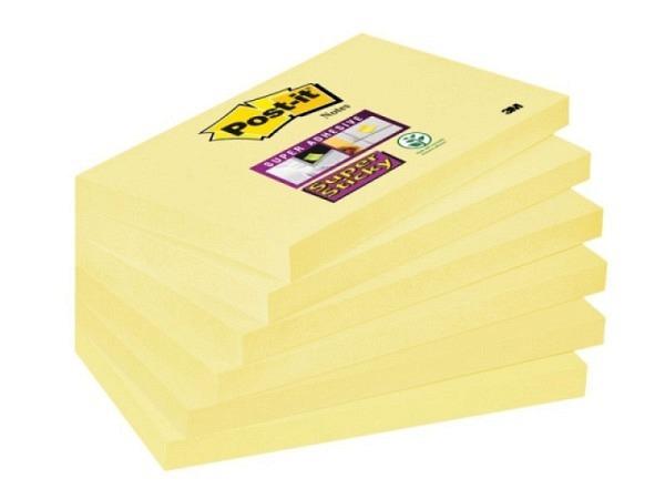 Haftnotizen Post-it Super Sticky 76x127mm gelb 6 Block à 90 Blatt