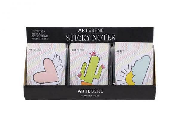 Haftnotizen Artebene Sticky Notes assortiert