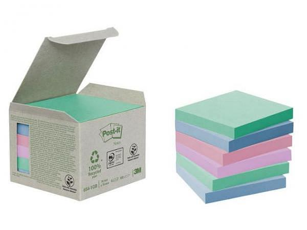 Haftnotizen Post-it Recycling Pastell 76x76mm 6 Blöcke