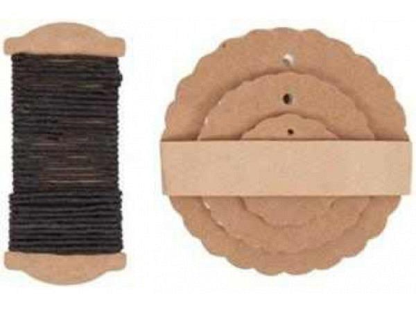 Anhängeetiketten PaperPoetry Rosette Kraftpapier, 30Stk. In den Durchmessern 3cm, 5cm und 7cm. Mit 6