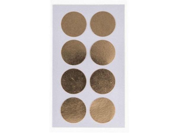 Aufkleber PaperPoetry Punkte 25mm gold metallic, 8 Stk. pro Blatt, 4..