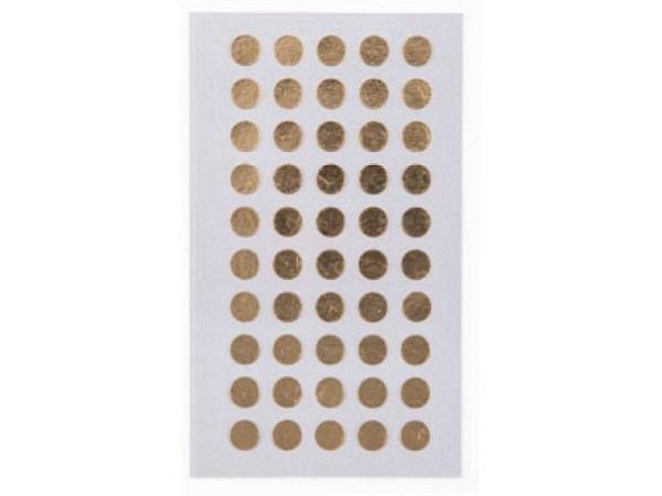 Aufkleber PaperPoetry Punkte 8mm gold metallic, 50 Stk. pro Blatt, 4..