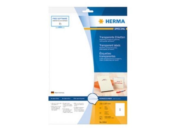 Etiketten Herma Special transparent 21x29,7cm