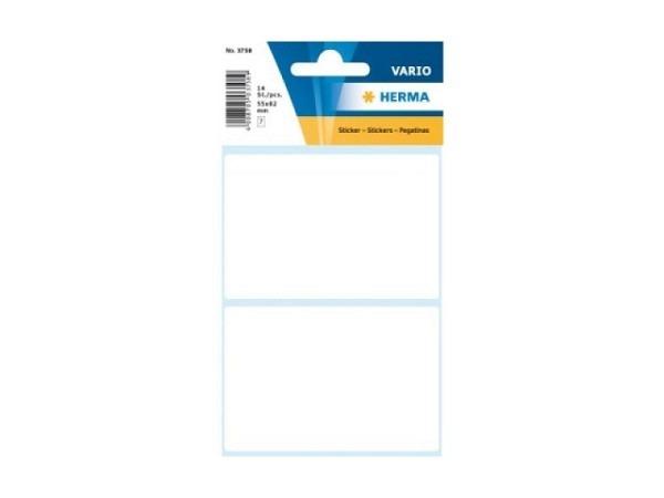 Etiketten Herma Kleinpackungen, permanent, 55x82mm, weiss
