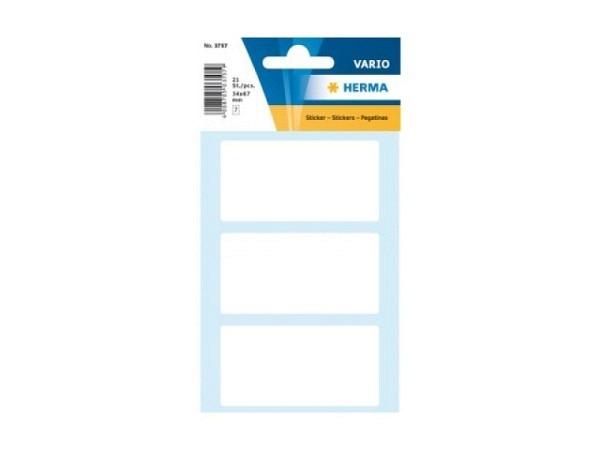 Etiketten Herma Kleinpackungen, permanent, 34x67mm, weiss