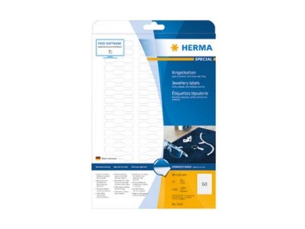 Etiketten Herma Special Ringetiketten A4 10x49mm