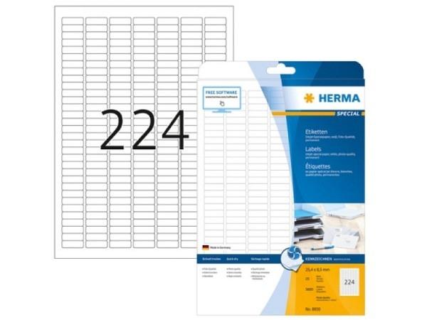 Etiketten Herma Special Inkjet-Etiketten Foto Qualität 25,4x8,5mm