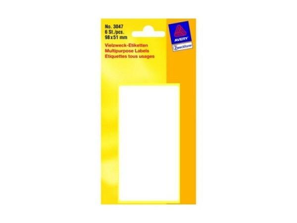Etiketten Zweckform Kleinpackung permanent, 51x98mm, weiss
