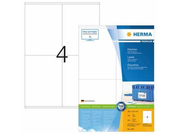 Etiketten Herma Premium A4, 105x144mm, weiss