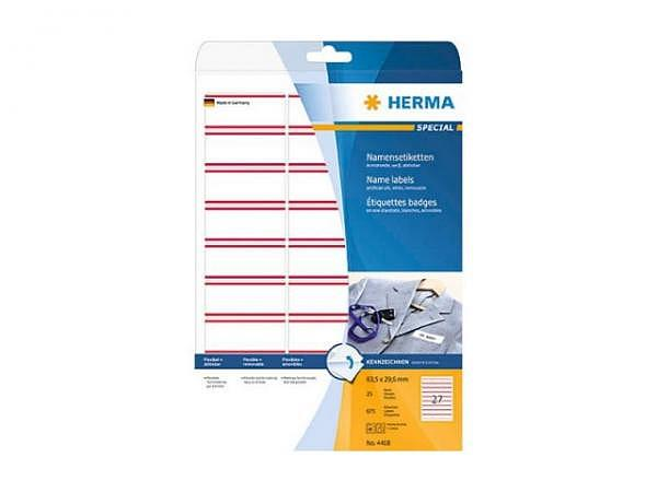 Etiketten Herma Special Namensetiketten A4 29,6x63,5mm weiss