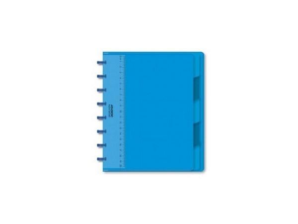 Heft Adoc Pap-Ex Colorlines mit Register A5 blau transparent