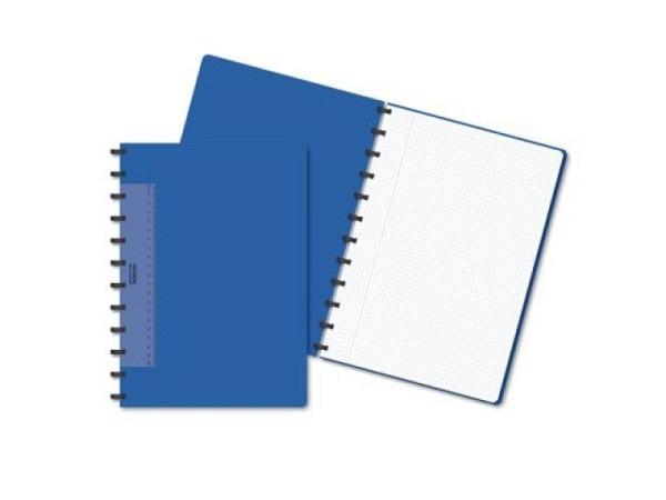 Heft Adoc Pap-Ex A4 blau, 4mm kariert, Umschlag aus PP 0,8mm dick