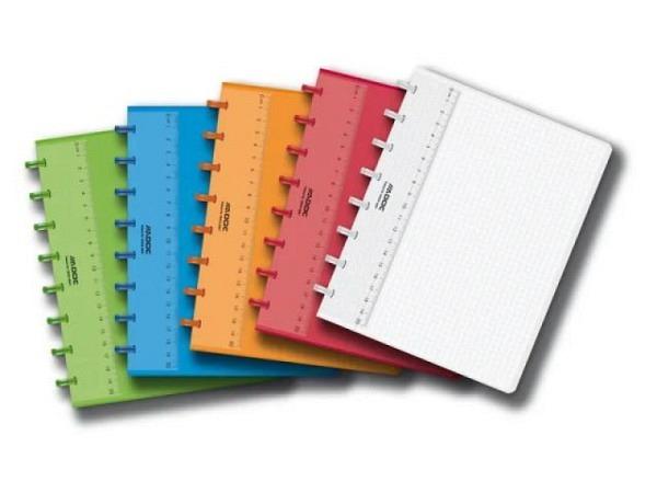 Heft Adoc Pap-Ex Colorlines ohne Register A5 farblos