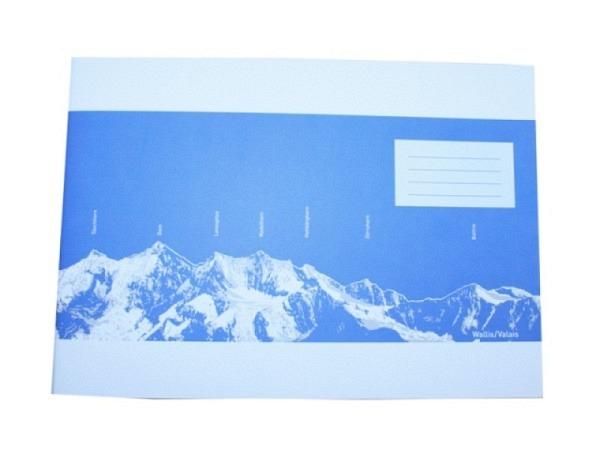 Heft Ingold Biwa Skizzenpapier A4 quer blanko eierschalenweiss
