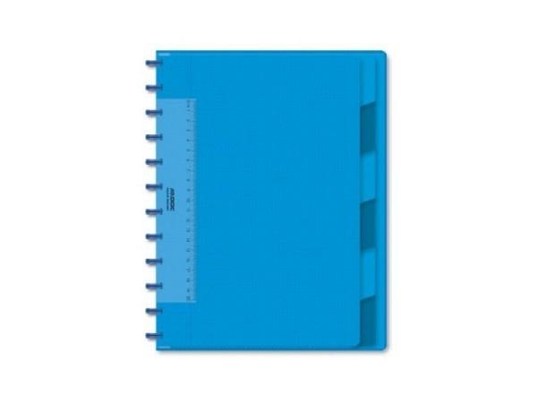 Heft Adoc Pap-Ex Colorlines mit Register A4 blau transparent