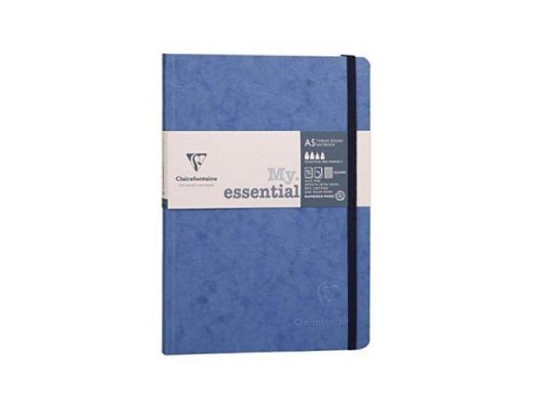 Notizbuch Clairefontaine My essential Journal, Einband Lederoptik blau, A5