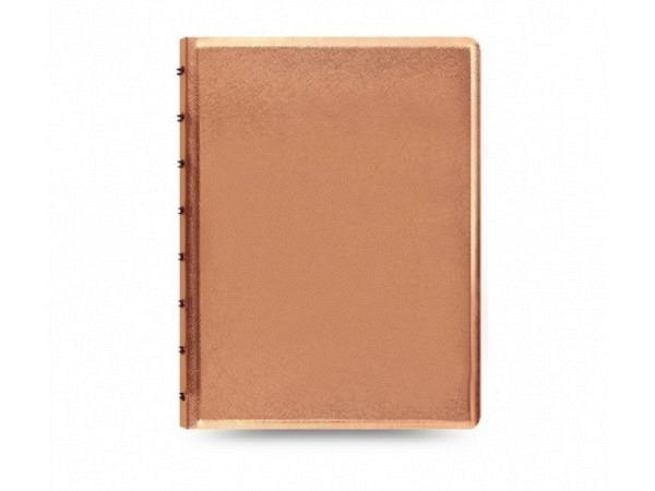 Notizbuch Filofax Notebook A5 Saffiano Metallics Rose Gold