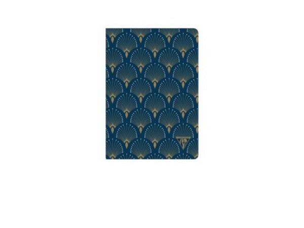 Heft Clairefontaine Neo Deco Pfau, liniert A5 pfauenblau