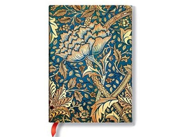 Notizbuch Paperblanks Flexis Schwarzes Marokkoleder Midi 13x18cm, li..