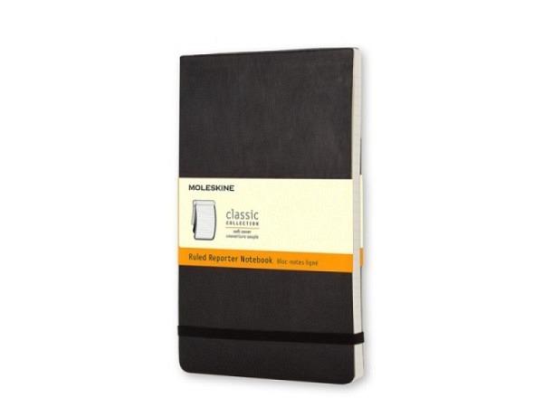 Notizbuch Moleskine Reporter Softcover A6quer liniert, 192 S