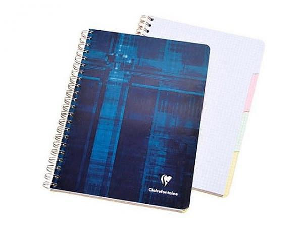 Heft Clairefontaine Spirale mit Register A4 5mm kariert