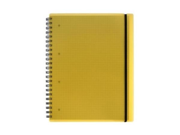 Heft Kolma Easy Spiralbindung A4 5mm kariert 100Blatt gelb