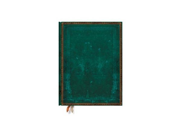 Notizbuch Paperblanks Faux-Leder Viridiangrün Ultra, liniert