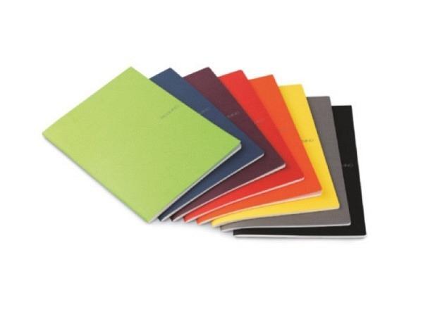 Heft Fabriano EcoQua punktkariert A4 orange, 90 Seiten
