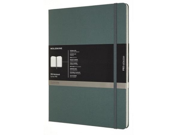 Notizbuch Moleskine Notebook Pro XXL Forestgreen 21x28cm