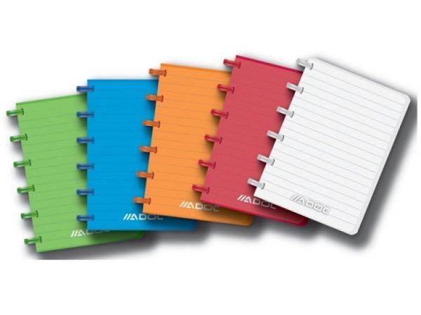 Heft Adoc Pap-Ex Colorlines ohne Register A6 farbig transparent