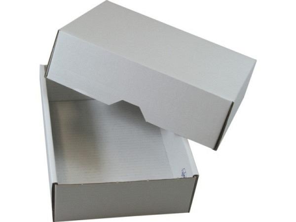 Schachtel Stulp Wellkarton weiss A4 8cm hoch