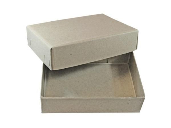 Schachtel Stulp grau A5 145x202mm, 5,6cm hoch