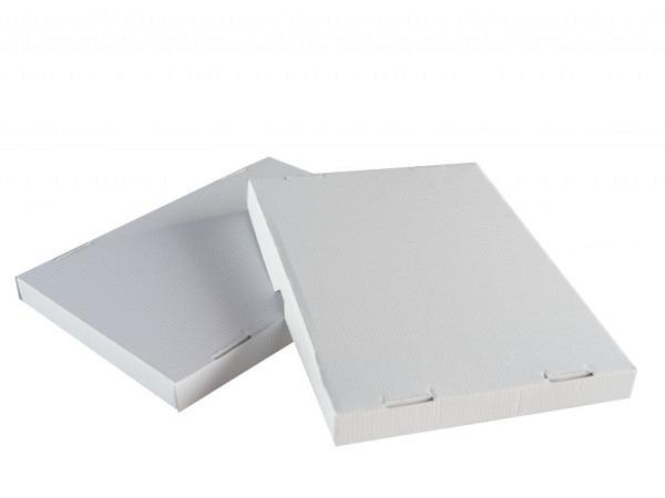 Schachtel Stulp Wellkarton weiss A4 1,5cm hoch