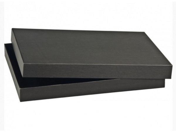 Schachtel schwarz 23,5x33x4cm Aufbewahrungsbox, Karton, A4