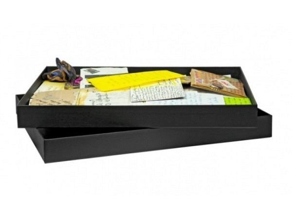 Schachtel schwarz 33,6x45x4cm Aufbewahrungsbox, Karton, A3