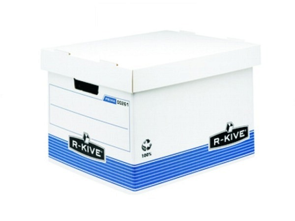 Schachtel Fellowes Archivbox weiss/blau