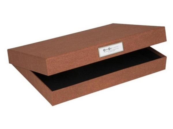 Schachtel Bigso Box Aufbewahrungsbox Leinenbezug Henry anthrazit A4